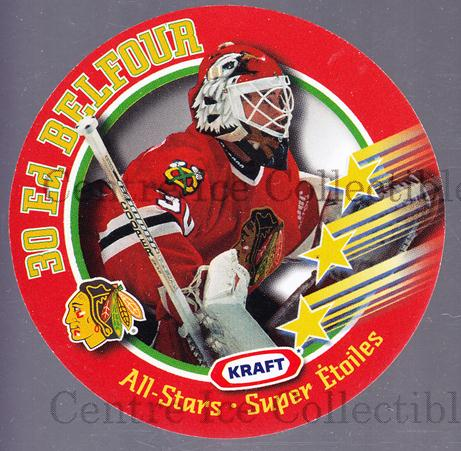 1995-96 Kraft Disc #1 Ed Belfour<br/>1 In Stock - $3.00 each - <a href=https://centericecollectibles.foxycart.com/cart?name=1995-96%20Kraft%20Disc%20%231%20Ed%20Belfour...&price=$3.00&code=271337 class=foxycart> Buy it now! </a>