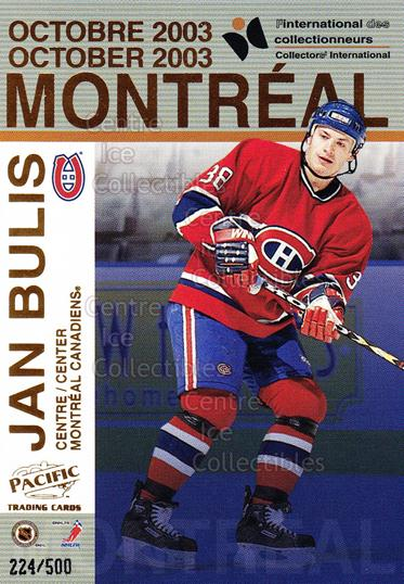 2003 Pacific Montreal International Redemption #5 Bruno Heppell, Jan Bulis<br/>1 In Stock - $3.00 each - <a href=https://centericecollectibles.foxycart.com/cart?name=2003%20Pacific%20Montreal%20International%20Redemption%20%235%20Bruno%20Heppell,%20...&quantity_max=1&price=$3.00&code=271359 class=foxycart> Buy it now! </a>