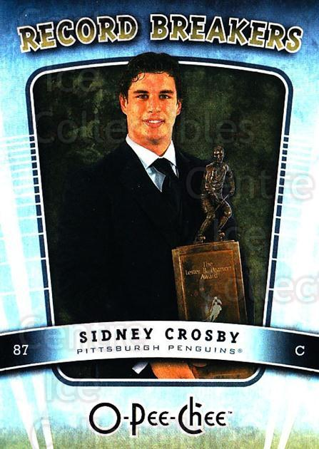 2007-08 O-Pee-Chee Record Breakers #5 Sidney Crosby<br/>2 In Stock - $5.00 each - <a href=https://centericecollectibles.foxycart.com/cart?name=2007-08%20O-Pee-Chee%20Record%20Breakers%20%235%20Sidney%20Crosby...&quantity_max=2&price=$5.00&code=271365 class=foxycart> Buy it now! </a>