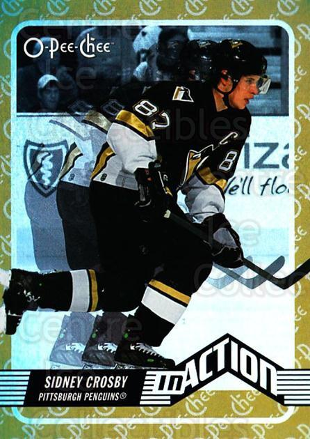 2007-08 O-Pee-Chee In Action #1 Sidney Crosby<br/>2 In Stock - $5.00 each - <a href=https://centericecollectibles.foxycart.com/cart?name=2007-08%20O-Pee-Chee%20In%20Action%20%231%20Sidney%20Crosby...&quantity_max=2&price=$5.00&code=271371 class=foxycart> Buy it now! </a>