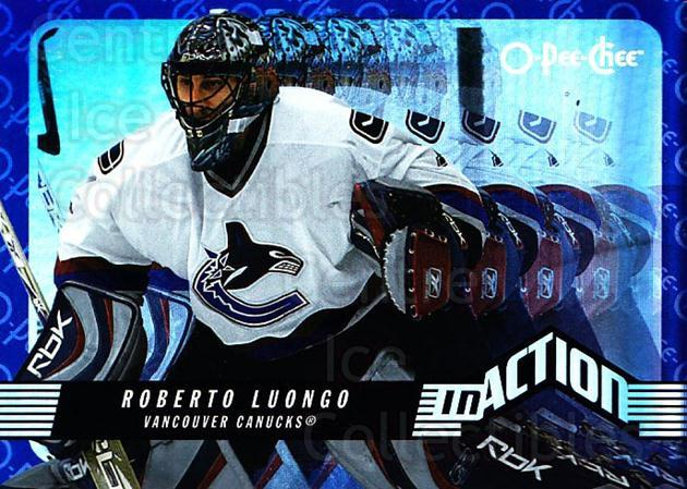 2007-08 O-Pee-Chee In Action #16 Roberto Luongo<br/>1 In Stock - $2.00 each - <a href=https://centericecollectibles.foxycart.com/cart?name=2007-08%20O-Pee-Chee%20In%20Action%20%2316%20Roberto%20Luongo...&quantity_max=1&price=$2.00&code=271386 class=foxycart> Buy it now! </a>