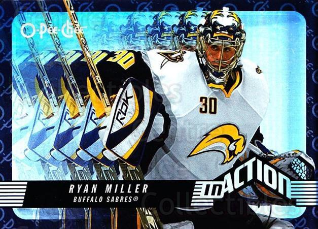 2007-08 O-Pee-Chee In Action #18 Ryan Miller<br/>3 In Stock - $2.00 each - <a href=https://centericecollectibles.foxycart.com/cart?name=2007-08%20O-Pee-Chee%20In%20Action%20%2318%20Ryan%20Miller...&quantity_max=3&price=$2.00&code=271388 class=foxycart> Buy it now! </a>