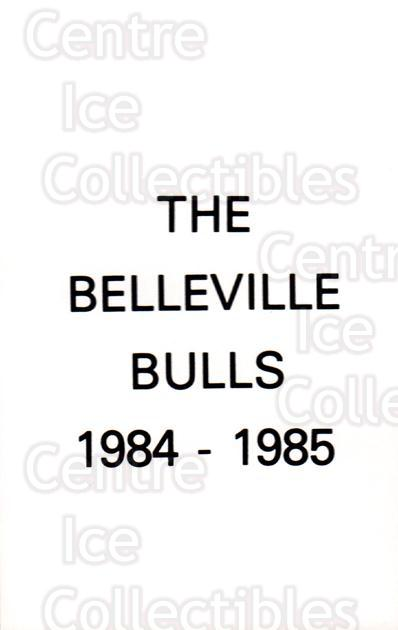 1984-85 Belleville Bulls #31 Header Card, Checklist<br/>3 In Stock - $3.00 each - <a href=https://centericecollectibles.foxycart.com/cart?name=1984-85%20Belleville%20Bulls%20%2331%20Header%20Card,%20Ch...&price=$3.00&code=27144 class=foxycart> Buy it now! </a>