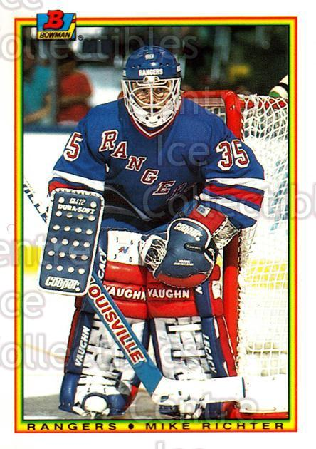 1990-91 Bowman Tiffany #218 Mike Richter<br/>3 In Stock - $5.00 each - <a href=https://centericecollectibles.foxycart.com/cart?name=1990-91%20Bowman%20Tiffany%20%23218%20Mike%20Richter...&quantity_max=3&price=$5.00&code=271503 class=foxycart> Buy it now! </a>