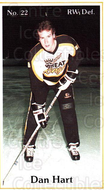 1984-85 Brandon Wheat Kings #14 Dan Hart<br/>5 In Stock - $3.00 each - <a href=https://centericecollectibles.foxycart.com/cart?name=1984-85%20Brandon%20Wheat%20Kings%20%2314%20Dan%20Hart...&quantity_max=5&price=$3.00&code=27150 class=foxycart> Buy it now! </a>