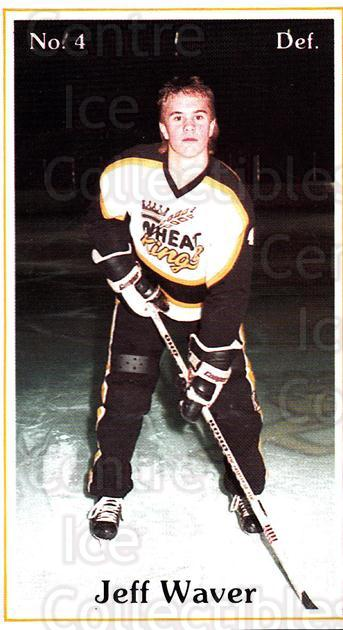 1984-85 Brandon Wheat Kings #16 Jeff Waver<br/>3 In Stock - $3.00 each - <a href=https://centericecollectibles.foxycart.com/cart?name=1984-85%20Brandon%20Wheat%20Kings%20%2316%20Jeff%20Waver...&quantity_max=3&price=$3.00&code=27152 class=foxycart> Buy it now! </a>