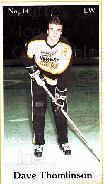 1984-85 Brandon Wheat Kings #22 Dave Thomlinson<br/>5 In Stock - $3.00 each - <a href=https://centericecollectibles.foxycart.com/cart?name=1984-85%20Brandon%20Wheat%20Kings%20%2322%20Dave%20Thomlinson...&quantity_max=5&price=$3.00&code=27159 class=foxycart> Buy it now! </a>