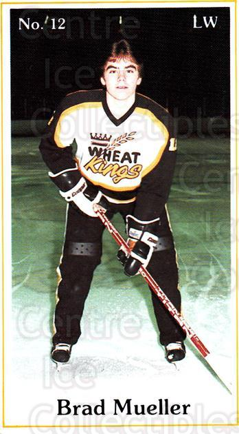 1984-85 Brandon Wheat Kings #6 Brad Mueller<br/>6 In Stock - $3.00 each - <a href=https://centericecollectibles.foxycart.com/cart?name=1984-85%20Brandon%20Wheat%20Kings%20%236%20Brad%20Mueller...&quantity_max=6&price=$3.00&code=27164 class=foxycart> Buy it now! </a>