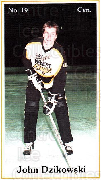 1984-85 Brandon Wheat Kings #7 John Dzikowski<br/>5 In Stock - $3.00 each - <a href=https://centericecollectibles.foxycart.com/cart?name=1984-85%20Brandon%20Wheat%20Kings%20%237%20John%20Dzikowski...&quantity_max=5&price=$3.00&code=27165 class=foxycart> Buy it now! </a>
