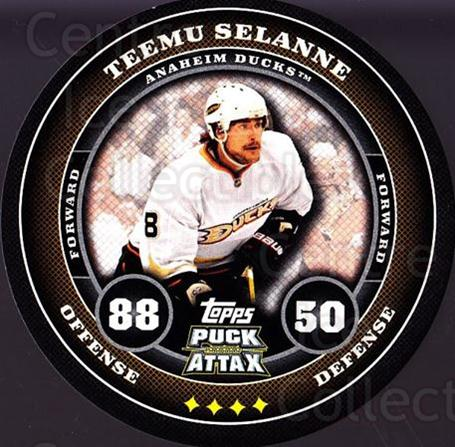 2009-10 Topps Puck Attax #3 Teemu Selanne<br/>4 In Stock - $3.00 each - <a href=https://centericecollectibles.foxycart.com/cart?name=2009-10%20Topps%20Puck%20Attax%20%233%20Teemu%20Selanne...&quantity_max=4&price=$3.00&code=271661 class=foxycart> Buy it now! </a>