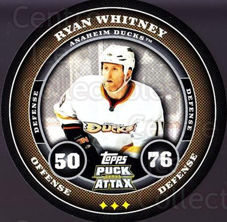 2009-10 Topps Puck Attax #5 Ryan Whitney<br/>5 In Stock - $2.00 each - <a href=https://centericecollectibles.foxycart.com/cart?name=2009-10%20Topps%20Puck%20Attax%20%235%20Ryan%20Whitney...&quantity_max=5&price=$2.00&code=271663 class=foxycart> Buy it now! </a>