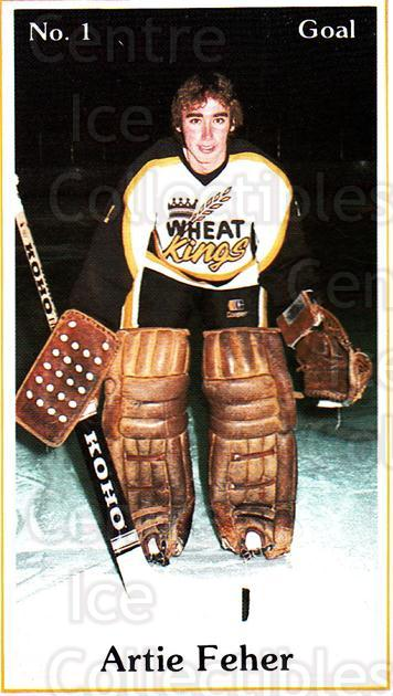 1984-85 Brandon Wheat Kings #8 Artie Feher<br/>5 In Stock - $3.00 each - <a href=https://centericecollectibles.foxycart.com/cart?name=1984-85%20Brandon%20Wheat%20Kings%20%238%20Artie%20Feher...&quantity_max=5&price=$3.00&code=27166 class=foxycart> Buy it now! </a>