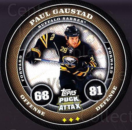 2009-10 Topps Puck Attax #21 Paul Gaustad<br/>5 In Stock - $2.00 each - <a href=https://centericecollectibles.foxycart.com/cart?name=2009-10%20Topps%20Puck%20Attax%20%2321%20Paul%20Gaustad...&quantity_max=5&price=$2.00&code=271679 class=foxycart> Buy it now! </a>