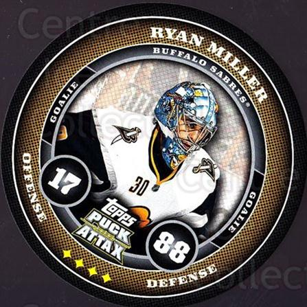2009-10 Topps Puck Attax #25 Ryan Miller<br/>1 In Stock - $2.00 each - <a href=https://centericecollectibles.foxycart.com/cart?name=2009-10%20Topps%20Puck%20Attax%20%2325%20Ryan%20Miller...&quantity_max=1&price=$2.00&code=271683 class=foxycart> Buy it now! </a>