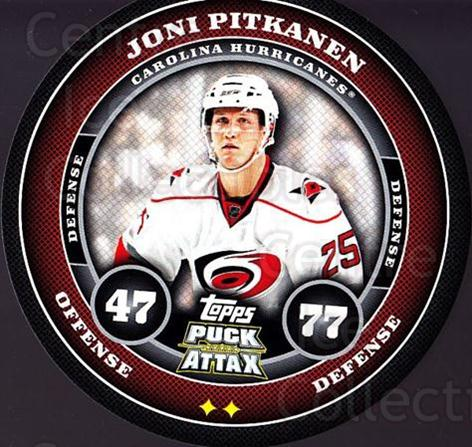 2009-10 Topps Puck Attax #36 Joni Pitkanen<br/>3 In Stock - $2.00 each - <a href=https://centericecollectibles.foxycart.com/cart?name=2009-10%20Topps%20Puck%20Attax%20%2336%20Joni%20Pitkanen...&quantity_max=3&price=$2.00&code=271694 class=foxycart> Buy it now! </a>
