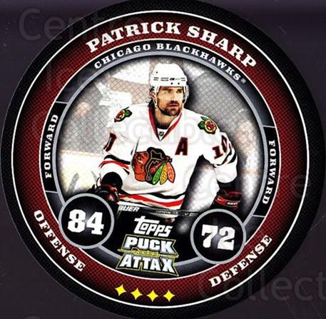 2009-10 Topps Puck Attax #40 Patrick Sharp<br/>4 In Stock - $2.00 each - <a href=https://centericecollectibles.foxycart.com/cart?name=2009-10%20Topps%20Puck%20Attax%20%2340%20Patrick%20Sharp...&quantity_max=4&price=$2.00&code=271698 class=foxycart> Buy it now! </a>