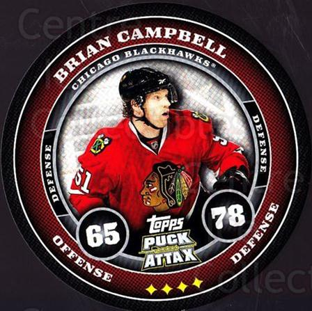2009-10 Topps Puck Attax #41 Brian Campbell<br/>6 In Stock - $2.00 each - <a href=https://centericecollectibles.foxycart.com/cart?name=2009-10%20Topps%20Puck%20Attax%20%2341%20Brian%20Campbell...&quantity_max=6&price=$2.00&code=271699 class=foxycart> Buy it now! </a>