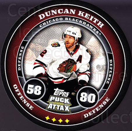 2009-10 Topps Puck Attax #42 Duncan Keith<br/>3 In Stock - $2.00 each - <a href=https://centericecollectibles.foxycart.com/cart?name=2009-10%20Topps%20Puck%20Attax%20%2342%20Duncan%20Keith...&quantity_max=3&price=$2.00&code=271700 class=foxycart> Buy it now! </a>