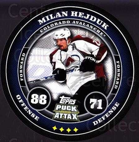 2009-10 Topps Puck Attax #44 Milan Hejduk<br/>7 In Stock - $2.00 each - <a href=https://centericecollectibles.foxycart.com/cart?name=2009-10%20Topps%20Puck%20Attax%20%2344%20Milan%20Hejduk...&quantity_max=7&price=$2.00&code=271702 class=foxycart> Buy it now! </a>