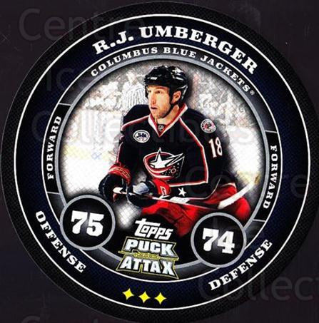 2009-10 Topps Puck Attax #52 RJ Umberger<br/>3 In Stock - $2.00 each - <a href=https://centericecollectibles.foxycart.com/cart?name=2009-10%20Topps%20Puck%20Attax%20%2352%20RJ%20Umberger...&quantity_max=3&price=$2.00&code=271710 class=foxycart> Buy it now! </a>