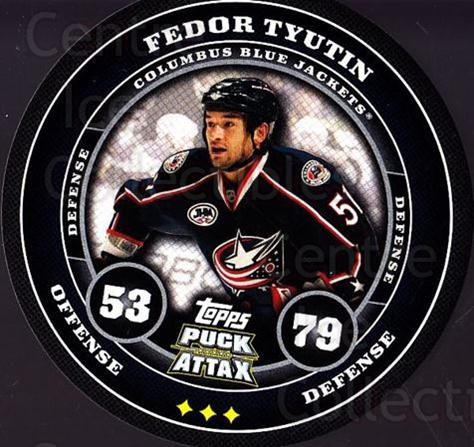 2009-10 Topps Puck Attax #53 Fedor Tyutin<br/>5 In Stock - $2.00 each - <a href=https://centericecollectibles.foxycart.com/cart?name=2009-10%20Topps%20Puck%20Attax%20%2353%20Fedor%20Tyutin...&quantity_max=5&price=$2.00&code=271711 class=foxycart> Buy it now! </a>