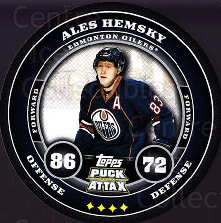 2009-10 Topps Puck Attax #72 Ales Hemsky<br/>6 In Stock - $2.00 each - <a href=https://centericecollectibles.foxycart.com/cart?name=2009-10%20Topps%20Puck%20Attax%20%2372%20Ales%20Hemsky...&quantity_max=6&price=$2.00&code=271730 class=foxycart> Buy it now! </a>