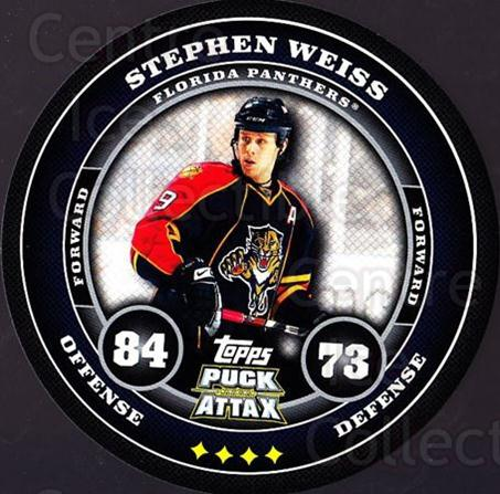 2009-10 Topps Puck Attax #77 Stephen Weiss<br/>3 In Stock - $2.00 each - <a href=https://centericecollectibles.foxycart.com/cart?name=2009-10%20Topps%20Puck%20Attax%20%2377%20Stephen%20Weiss...&quantity_max=3&price=$2.00&code=271735 class=foxycart> Buy it now! </a>