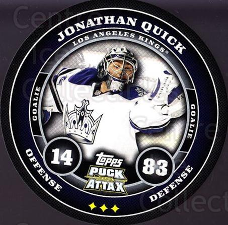 2009-10 Topps Puck Attax #88 Jonathan Quick<br/>1 In Stock - $2.00 each - <a href=https://centericecollectibles.foxycart.com/cart?name=2009-10%20Topps%20Puck%20Attax%20%2388%20Jonathan%20Quick...&quantity_max=1&price=$2.00&code=271746 class=foxycart> Buy it now! </a>