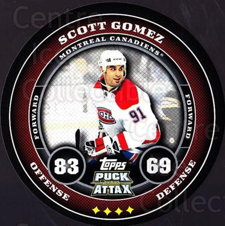 2009-10 Topps Puck Attax #99 Scott Gomez<br/>4 In Stock - $2.00 each - <a href=https://centericecollectibles.foxycart.com/cart?name=2009-10%20Topps%20Puck%20Attax%20%2399%20Scott%20Gomez...&quantity_max=4&price=$2.00&code=271757 class=foxycart> Buy it now! </a>