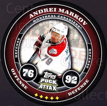 2009-10 Topps Puck Attax #101 Andrei Markov<br/>6 In Stock - $2.00 each - <a href=https://centericecollectibles.foxycart.com/cart?name=2009-10%20Topps%20Puck%20Attax%20%23101%20Andrei%20Markov...&quantity_max=6&price=$2.00&code=271759 class=foxycart> Buy it now! </a>