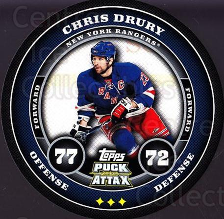 2009-10 Topps Puck Attax #124 Chris Drury<br/>6 In Stock - $2.00 each - <a href=https://centericecollectibles.foxycart.com/cart?name=2009-10%20Topps%20Puck%20Attax%20%23124%20Chris%20Drury...&quantity_max=6&price=$2.00&code=271782 class=foxycart> Buy it now! </a>
