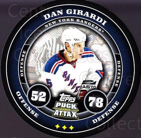 2009-10 Topps Puck Attax #126 Daniel Girardi<br/>3 In Stock - $2.00 each - <a href=https://centericecollectibles.foxycart.com/cart?name=2009-10%20Topps%20Puck%20Attax%20%23126%20Daniel%20Girardi...&quantity_max=3&price=$2.00&code=271784 class=foxycart> Buy it now! </a>