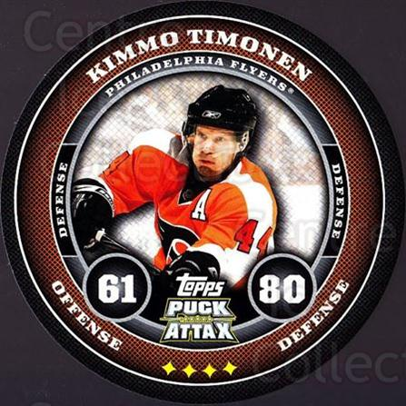 2009-10 Topps Puck Attax #139 Kimmo Timonen<br/>1 In Stock - $2.00 each - <a href=https://centericecollectibles.foxycart.com/cart?name=2009-10%20Topps%20Puck%20Attax%20%23139%20Kimmo%20Timonen...&quantity_max=1&price=$2.00&code=271797 class=foxycart> Buy it now! </a>