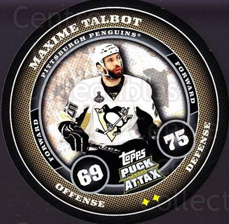 2009-10 Topps Puck Attax #149 Maxime Talbot<br/>4 In Stock - $2.00 each - <a href=https://centericecollectibles.foxycart.com/cart?name=2009-10%20Topps%20Puck%20Attax%20%23149%20Maxime%20Talbot...&quantity_max=4&price=$2.00&code=271807 class=foxycart> Buy it now! </a>