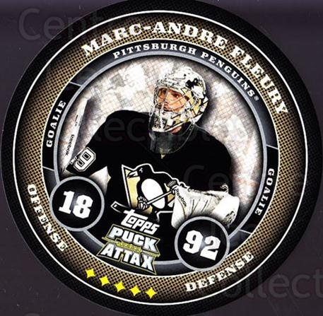 2009-10 Topps Puck Attax #155 Marc-Andre Fleury<br/>1 In Stock - $2.00 each - <a href=https://centericecollectibles.foxycart.com/cart?name=2009-10%20Topps%20Puck%20Attax%20%23155%20Marc-Andre%20Fleu...&quantity_max=1&price=$2.00&code=271813 class=foxycart> Buy it now! </a>