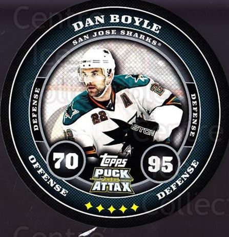 2009-10 Topps Puck Attax #159 Dan Boyle<br/>3 In Stock - $2.00 each - <a href=https://centericecollectibles.foxycart.com/cart?name=2009-10%20Topps%20Puck%20Attax%20%23159%20Dan%20Boyle...&price=$2.00&code=271817 class=foxycart> Buy it now! </a>