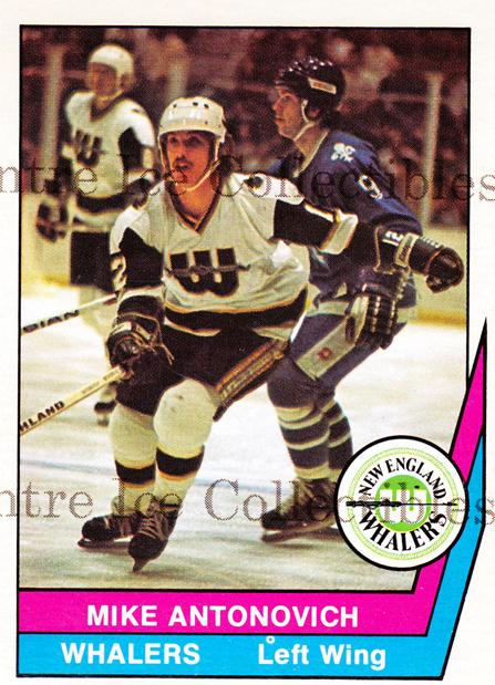 1977-78 O-Pee-Chee WHA #34 Mike Antonovich<br/>29 In Stock - $3.00 each - <a href=https://centericecollectibles.foxycart.com/cart?name=1977-78%20O-Pee-Chee%20WHA%20%2334%20Mike%20Antonovich...&quantity_max=29&price=$3.00&code=271934 class=foxycart> Buy it now! </a>