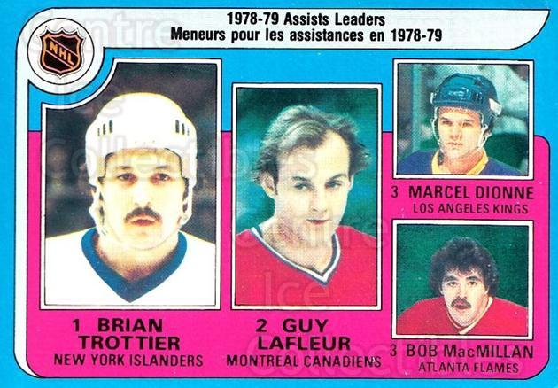 1979-80 O-pee-chee #2 Bryan Trottier, Marcel Dionne, Guy Lafleur, Bob MacMillian<br/>1 In Stock - $5.00 each - <a href=https://centericecollectibles.foxycart.com/cart?name=1979-80%20O-pee-chee%20%232%20Bryan%20Trottier,...&price=$5.00&code=271968 class=foxycart> Buy it now! </a>