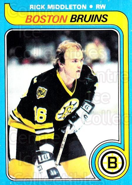1979-80 O-pee-chee #10 Rick Middleton<br/>2 In Stock - $2.00 each - <a href=https://centericecollectibles.foxycart.com/cart?name=1979-80%20O-pee-chee%20%2310%20Rick%20Middleton...&quantity_max=2&price=$2.00&code=271976 class=foxycart> Buy it now! </a>