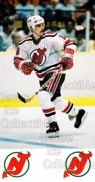 1984-85 New Jersey Devils Postcards #21 Rich Preston<br/>7 In Stock - $3.00 each - <a href=https://centericecollectibles.foxycart.com/cart?name=1984-85%20New%20Jersey%20Devils%20Postcards%20%2321%20Rich%20Preston...&quantity_max=7&price=$3.00&code=27208 class=foxycart> Buy it now! </a>