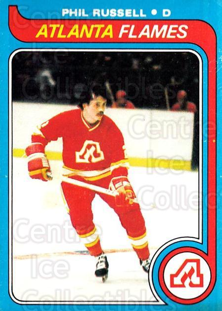 1979-80 O-pee-chee #143 Phil Russell<br/>2 In Stock - $2.00 each - <a href=https://centericecollectibles.foxycart.com/cart?name=1979-80%20O-pee-chee%20%23143%20Phil%20Russell...&quantity_max=2&price=$2.00&code=272109 class=foxycart> Buy it now! </a>