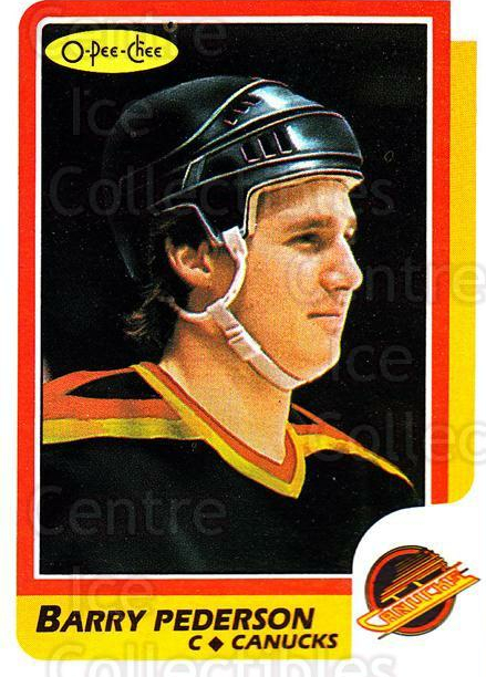 1986-87 O-Pee-Chee #34 Barry Pederson<br/>3 In Stock - $1.00 each - <a href=https://centericecollectibles.foxycart.com/cart?name=1986-87%20O-Pee-Chee%20%2334%20Barry%20Pederson...&quantity_max=3&price=$1.00&code=272373 class=foxycart> Buy it now! </a>