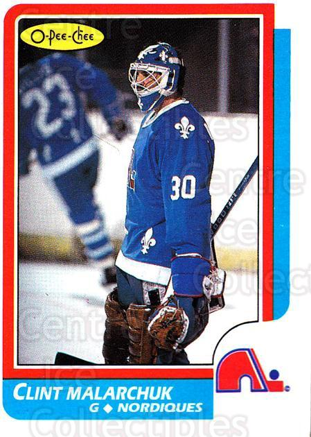 1986-87 O-Pee-Chee #47 Clint Malarchuk<br/>1 In Stock - $1.00 each - <a href=https://centericecollectibles.foxycart.com/cart?name=1986-87%20O-Pee-Chee%20%2347%20Clint%20Malarchuk...&quantity_max=1&price=$1.00&code=272379 class=foxycart> Buy it now! </a>