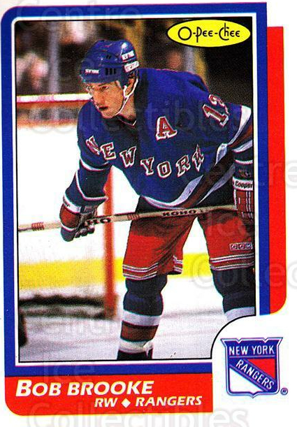 1986-87 O-Pee-Chee #48 Bob Brooke<br/>6 In Stock - $1.00 each - <a href=https://centericecollectibles.foxycart.com/cart?name=1986-87%20O-Pee-Chee%20%2348%20Bob%20Brooke...&quantity_max=6&price=$1.00&code=272380 class=foxycart> Buy it now! </a>