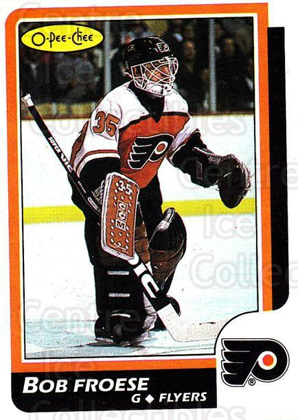 1986-87 O-Pee-Chee #55 Bob Froese<br/>5 In Stock - $1.00 each - <a href=https://centericecollectibles.foxycart.com/cart?name=1986-87%20O-Pee-Chee%20%2355%20Bob%20Froese...&quantity_max=5&price=$1.00&code=272382 class=foxycart> Buy it now! </a>