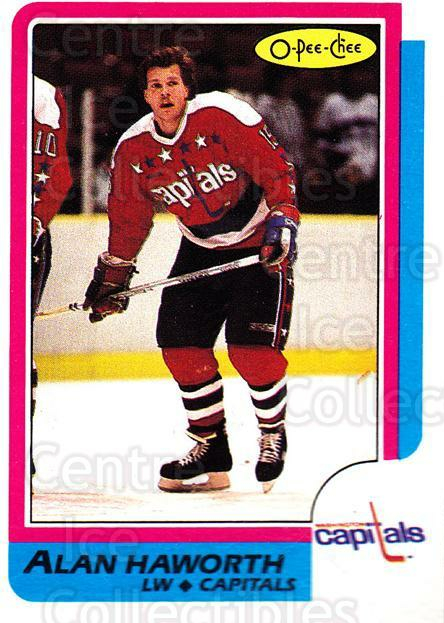 1986-87 O-Pee-Chee #107 Alan Haworth<br/>4 In Stock - $1.00 each - <a href=https://centericecollectibles.foxycart.com/cart?name=1986-87%20O-Pee-Chee%20%23107%20Alan%20Haworth...&quantity_max=4&price=$1.00&code=272401 class=foxycart> Buy it now! </a>