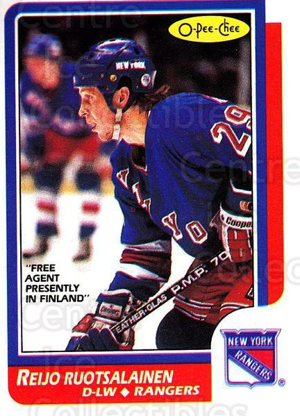 1986-87 O-Pee-Chee #128 Reijo Ruotsalainen<br/>8 In Stock - $1.00 each - <a href=https://centericecollectibles.foxycart.com/cart?name=1986-87%20O-Pee-Chee%20%23128%20Reijo%20Ruotsalai...&quantity_max=8&price=$1.00&code=272405 class=foxycart> Buy it now! </a>