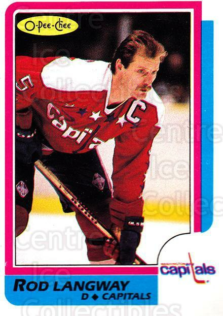 1986-87 O-Pee-Chee #164 Rod Langway<br/>3 In Stock - $1.00 each - <a href=https://centericecollectibles.foxycart.com/cart?name=1986-87%20O-Pee-Chee%20%23164%20Rod%20Langway...&quantity_max=3&price=$1.00&code=272417 class=foxycart> Buy it now! </a>