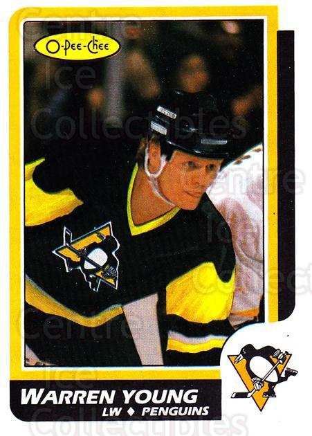 1986-87 O-Pee-Chee #209 Warren Young<br/>3 In Stock - $1.00 each - <a href=https://centericecollectibles.foxycart.com/cart?name=1986-87%20O-Pee-Chee%20%23209%20Warren%20Young...&quantity_max=3&price=$1.00&code=272434 class=foxycart> Buy it now! </a>