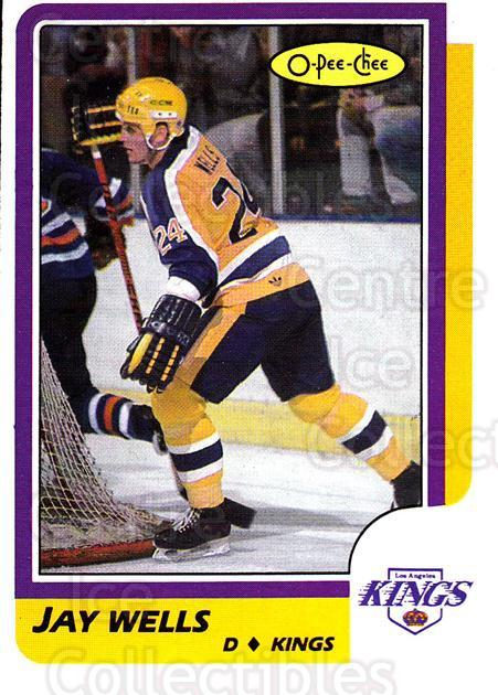 1986-87 O-Pee-Chee #217 Jay Wells<br/>7 In Stock - $1.00 each - <a href=https://centericecollectibles.foxycart.com/cart?name=1986-87%20O-Pee-Chee%20%23217%20Jay%20Wells...&quantity_max=7&price=$1.00&code=272441 class=foxycart> Buy it now! </a>